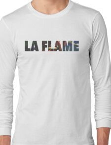Travi$ Scott - La Flame Writing Long Sleeve T-Shirt