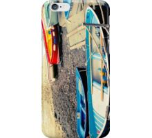 Boats by the beach iPhone Case/Skin