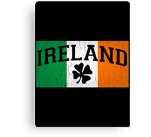 Vintage Ireland Flag (distressed look) Canvas Print