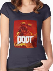 Doom doot shirt 3 Women's Fitted Scoop T-Shirt