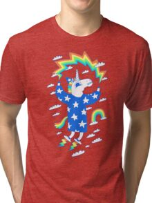 Unicorn Wizard Tri-blend T-Shirt