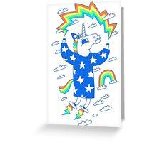 Unicorn Wizard Greeting Card