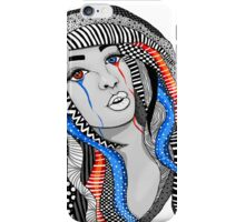 Comic Style Pattern Hair Girl iPhone Case/Skin