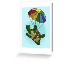 Skydiving Turtle Greeting Card