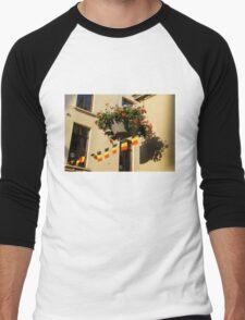 Brussels, Belgium - Flowers, Flags, Football Men's Baseball ¾ T-Shirt