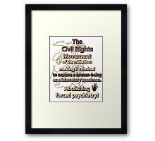 The Civil Rights Movement of the millenium Framed Print
