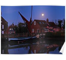 Full Moon on the The Quay   Poster