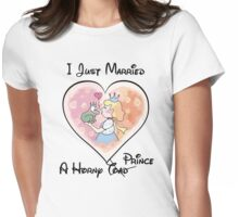 Just Married A Horny Prince Womens Fitted T-Shirt