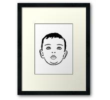 Baby face sweet love Framed Print