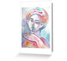 Roman Boy's Head Greeting Card
