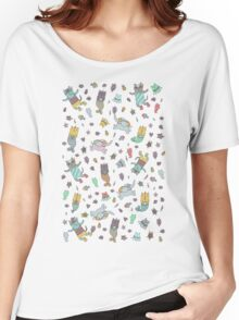 Cat - mermaids under the sea.  Women's Relaxed Fit T-Shirt