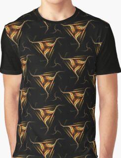 Dark Grunge Tri-Swirl Graphic T-Shirt