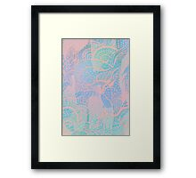 Abstract pastels color pattern Framed Print