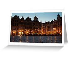Brussels - Grand Place Facades Golden Glow Greeting Card