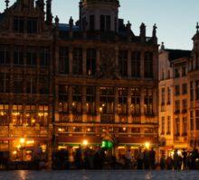 Brussels - Grand Place Facades Golden Glow Sticker