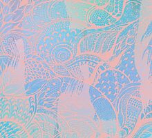 Abstract pastels color pattern by Sviatlana Kandybovich