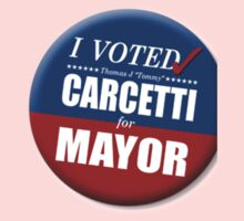 "I Voted Carcetti for Mayor (pin) - ""The Wire"" One Piece - Long Sleeve"