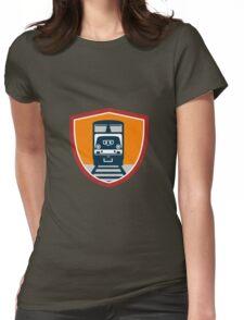 Diesel Train Freight Rail Crest Retro Womens Fitted T-Shirt