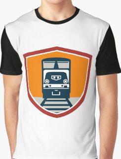 Diesel Train Freight Rail Crest Retro Graphic T-Shirt
