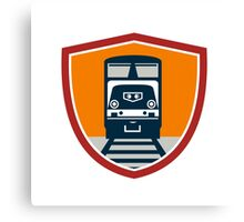 Diesel Train Freight Rail Crest Retro Canvas Print