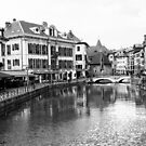 Panoramic View of Le Thiou,  Annercy Old Town. by John Gaffen