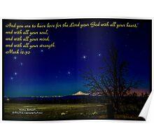 Bible Verse Mark 12:30 Poster