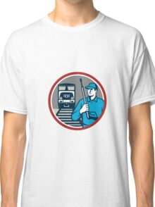 Pressure Washer Train Rail Circle Retro Classic T-Shirt