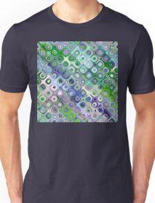 Blue And Green Circles Pattern Unisex T-Shirt