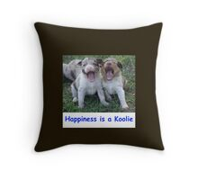 Happiness is a Koolie Throw Pillow Throw Pillow