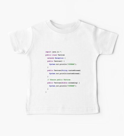 Java Code New Baby - Throws Tantrum Baby Tee