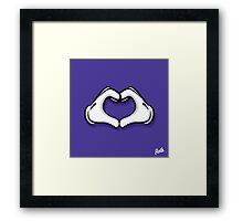 Heart Hands Framed Print