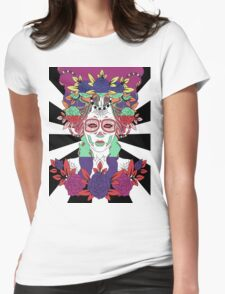 Colorful Day of the Dead Women Womens Fitted T-Shirt