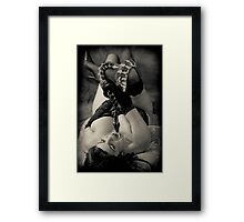 Twas the serpent who beguiled me... Vers 2 Framed Print