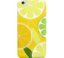Yellow Citrus: Citrus fruit background vector iPhone Case/Skin