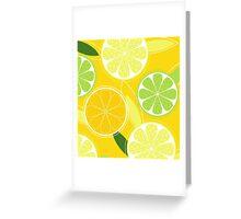 Yellow Citrus: Citrus fruit background vector Greeting Card