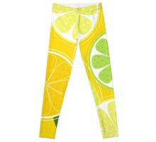 Yellow Citrus: Citrus fruit background vector Leggings