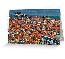 Panoramic view of Venice, Italy Greeting Card