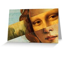 Botticelli's Venus and Mona Lisa Greeting Card