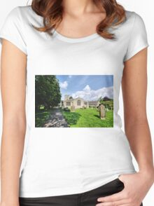 St Andrews Church, Grinton Women's Fitted Scoop T-Shirt