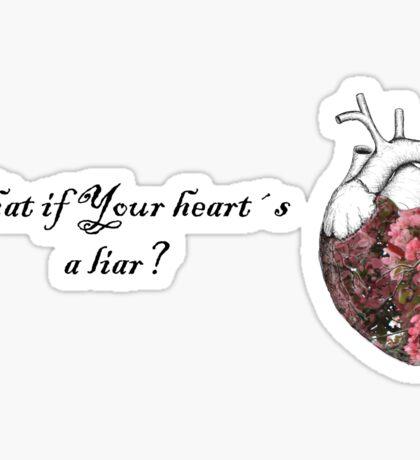 Liar heart Sticker