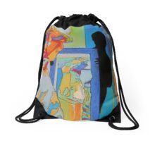 Mirror mirror on the wall Drawstring Bag