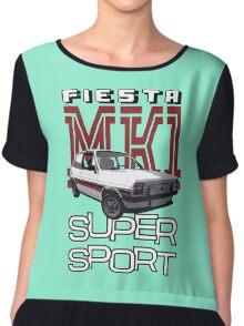 Ford Fiesta Super-Sport Classic Car T-shirts Chiffon Top