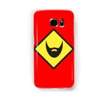 BEWARE beard yellow sign Samsung Galaxy Case/Skin