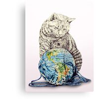 Our feline deity shows restraint Canvas Print