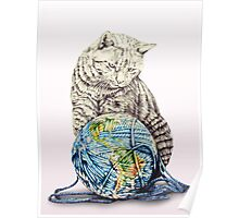 Our feline deity shows restraint Poster