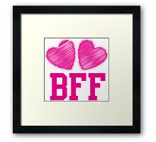 BFF with cute love hearts Framed Print