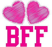 BFF with cute love hearts Photographic Print