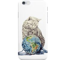 Our feline deity shows restraint iPhone Case/Skin