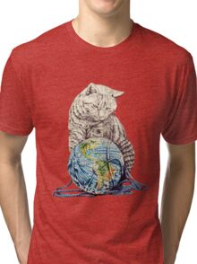 Our feline deity shows restraint Tri-blend T-Shirt