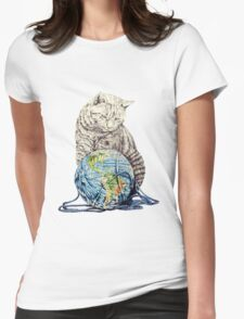 Our feline deity shows restraint Womens Fitted T-Shirt